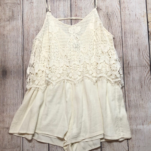 American Eagle Outfitters Pants - AEO Lace Romper